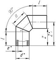 Отвод ПЭ сегментный стыковой 90*