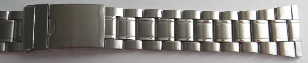 Браслет для часов метал. 24 мм Серебро