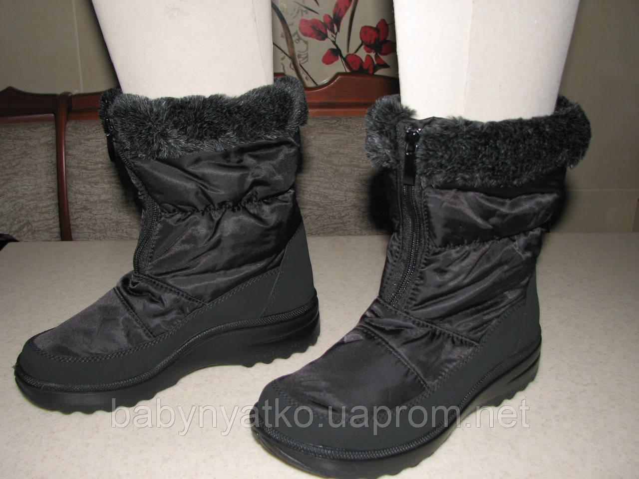 1a8897a0a Тигина сапоги-дутики зимние женские р.37,39,40,41 черные, цена 1 275 ...