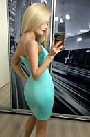 Платье женское цвета  бирюза,мята на брительках