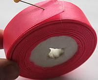 Лента атласная ширина  2 см. катушка 33м\ 36 ярдов розовая