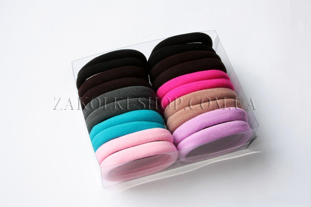 Резинки для волос; Резинка в коробке, 24 штуки