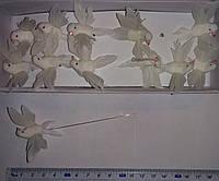 Птицы декоративные из перьев