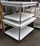 Обробний стіл острівний 150х100 см із нержавіючої сталі, фото 2
