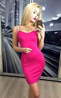 Женское Малиновое мини платье