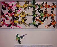 Птицы из перьев (5см, 24 шт) арт. 08031
