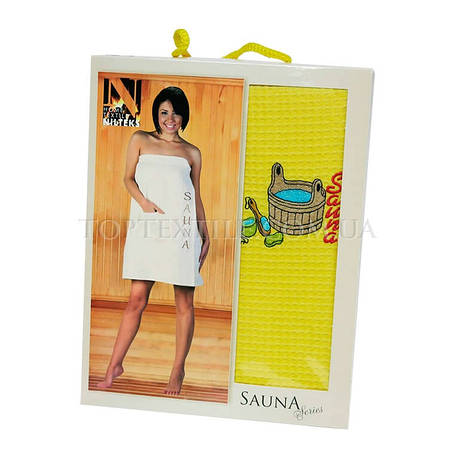 Полотенце для сауны Nilteks-желтый, фото 2