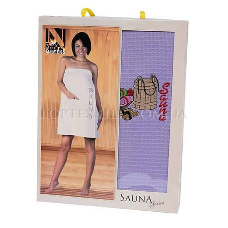 Полотенце для сауны Nilteks-сиреневый , фото 2