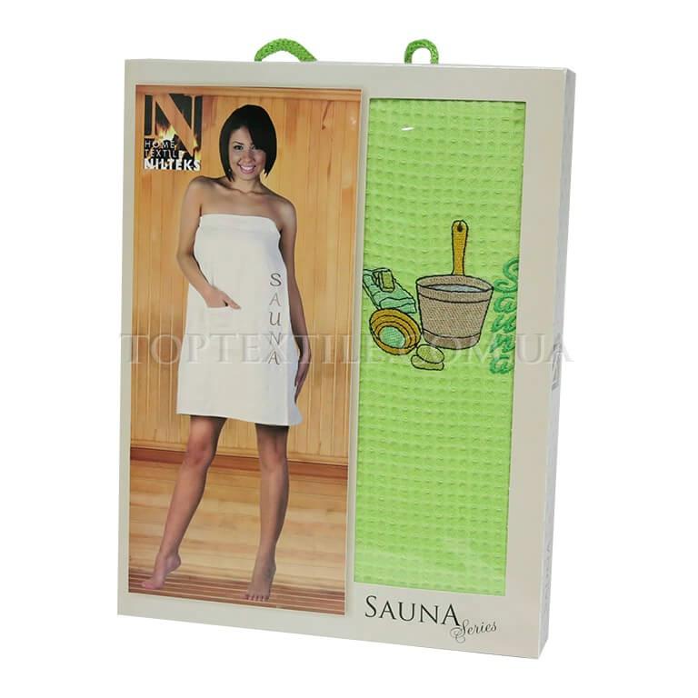 Полотенце для сауны Nilteks-салатовое