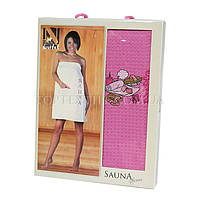 Полотенце для сауны Nilteks-розовое