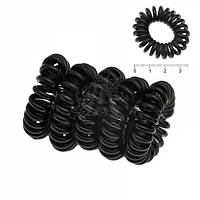 Резинка - пружинка черная силиконовая (100шт.) Ø3см