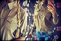 Классическая женская х/б рубашка 867