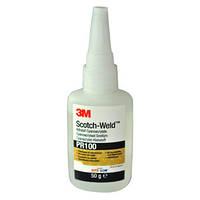 Цианокрилатный (моментальный) клей ЗМ™ Scotch-Weld™ PR 100 - для пластиков и резин, 50 гр.