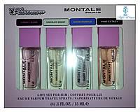 Парфюмерный набор с феромонами Montale Монтале мини 4 по 15мл женский топ аромат