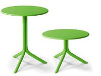 Стол пластиковый круглый Step + Step Mini зеленый