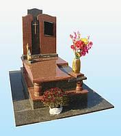Одинарные памятники гранитные от производителя (Образцы №386)