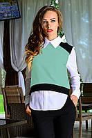 Блуза  3-х цветная