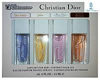 Парфюмерный набор с феромонами Christian Dior Кристиан Диор мини 4 по 15мл женский топ аромат
