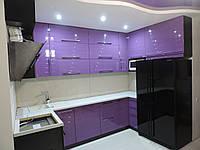 Кухня с фрезированными фасадами