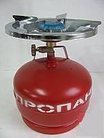Газовая печка портативная с баллоном на 5 литров.