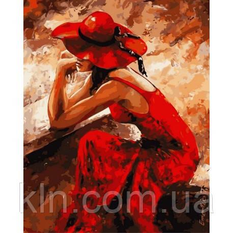Картина по номерам Babylon Женщина в красном VP312 40 х 50 см