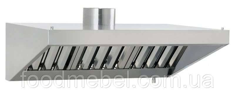Кухонная вытяжка с жироулавливающими фильтрами из нержавеющей стали для ресторана/кафе