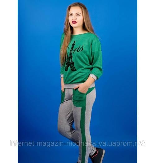 Спортивный костюм Одри р. 46;50;52 зеленый