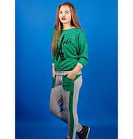 Спортивный костюм Одри р. 46;50;52 зеленый, фото 1