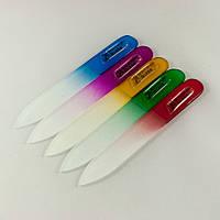 Пилочка стеклянная с хрустальным напылением Корейская маленькая 9,5см, фото 1