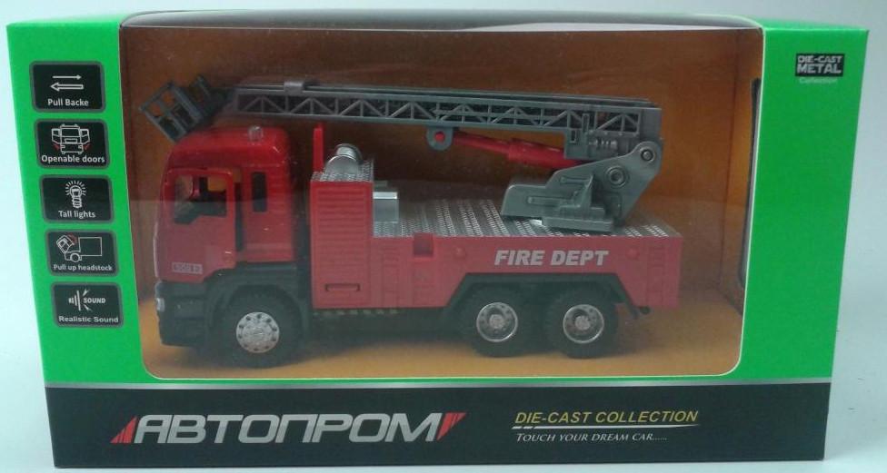 Машина металлическая.1:32 Пожарная машина Автопром 5002