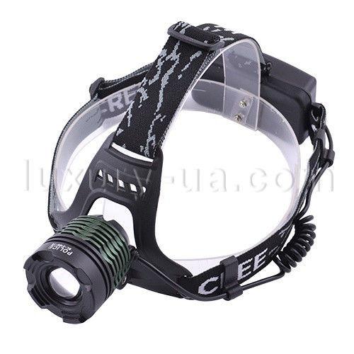 Налобный фонарик Bailong Police 2188-Т6, светодиодный фонарик на лоб, один диод, фонарь налобный, zoom