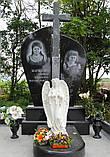 Скульптура в Украине. Надгробный Ангел с розами из полистоуна 57 см, фото 9