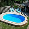 Сборный овальный бассейн IBIZA POOL 7,0 х 3,5 х 1,5 м (31 м3)