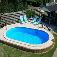 Сборный овальный бассейн IBIZA POOL 7,0 х 3,5 х 1,5 м (31 м3), фото 1