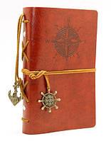 Винтажный блокнот морской тематики цвет красный и коричневый