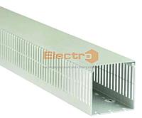 Короб кабельный перфорированный КБл 20х20 перф. 4х5  цвет серый  не поддерживает горение