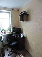 Рабочий стол и стелаж для дома темный, фото 1