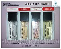 Парфумерний набір з феромонами Armand Basi Арманд Баси міні 4 по 15мл топ жіночий аромат