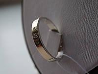 Обручальное кольцо серебряное с золотой пластинкой