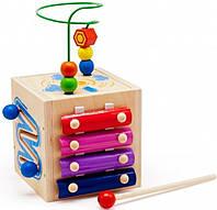 Развивающий куб+ксилофон, фото 1