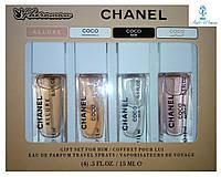 Парфюмерный набор с феромонами Chanel Шанель мини 4 по 15мл женский топ аромат