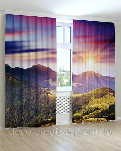 Фотошторы  закат в горах