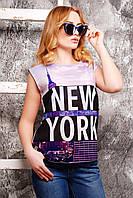 Модная женская футболка из креп-шифона и спинка из мягкой вискозной ткани