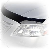 Дефлектор капота (мухобойка) Тойота LAND CRUISER 100 темный logo