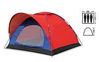 Палатка 3-х местная SY-010 (р-р 2,0х2,0х1,35м, PL)