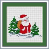 """Набор для вышивания нитками  """"Дед Мороз"""", фото 2"""