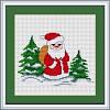 """Набор для вышивания нитками  """"Дед Мороз"""""""