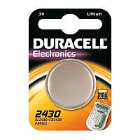 Батарейка литиевая  Duracell Lithium CR 2430 / 1 BL