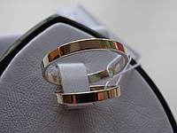 Обручку срібне з золотою вставкою