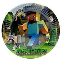 Тарілка святкова одноразова дитяча Майнкрафт Minecraft
